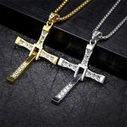 Necklace For Men Jewelry The Fast And The Furious Dominic Toretto Cross Pendant