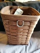 Longaberger Sort/store Sm Waste/trash/recycle Rich Brown New....l15
