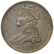 1837 Capped Bust Half Dollar Pcgs Au53 Reeded Edge Gr-11 R.5 Third Finest Known