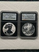 2013-w Silver Eagle 2 Coin Set Ngc Pr70/ms70 Reverse/enhanced Early Releases
