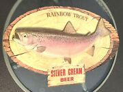 Silver Cream Beer Rainbow Trout Wall Hanging Placard,breweriana