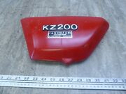1978 Kawasaki Kz200a Kz200 K786 Red Left Side Cover Panel With Emblem