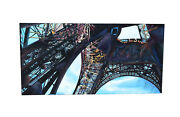 Huge 1997 Industrial Steel Architecture Painting Eiffel Tower From Below Sgd Nar