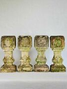Set Of 4 Clay Salvaged Balustrades From The Early 20th-century 15¾