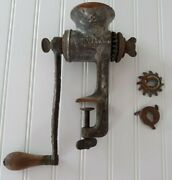 Vintage Rusty Meat Grinder Farmhouse Industrial Decor Universal 2 L F And C Co