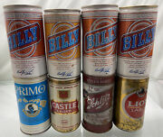 Lot Of 8 - Vintage And Pull Tab Beer Cans - Billy Beer Primo Castle And More