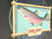 Nicesilver Cream Beer Rainbow Trout Wall Hanging Placard Breweriana Collectible
