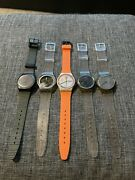 Nice Vintage Swatch Watch Lot Of 5 All Running