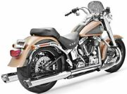 Racing Dual Exhaust System - Chrome Body With Chrome Tip Color Chrome Hd00134