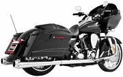 American Outlaw Dual Exhaust System Chrome Body With Chrome Tip Hd00284 47-3220