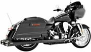 American Outlaw Dual Exhaust System Black Body With Black Tip Hd00287 47-3224