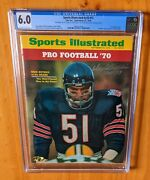 Sports Illustrated 1970 Butkus Signed Newsstand Cgc 6.0 Top 10 Iconic