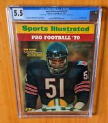 Sports Illustrated 1970 Butkus Signed Newsstand Cgc 5.5 Top 10 Iconic