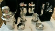 Htf Bey And Berk 10 Piece Stainless Steel Portable Travel Bar Set Holmes And Watson