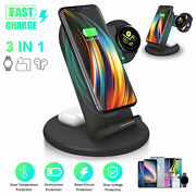 3-in-1 Wireless Charger Dock Station Stand For Samsung Watch Iphone 12 Air Pods
