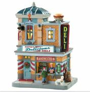 Lemax Davidand039s Delicious Deli Sandwiches Christmas Village Lighted Building New