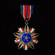 Very Rare Wwii Chinese Air Force Order Of Rejuvenation Ii Class With Ribbon