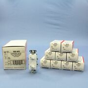 10 New Pands White Single Pole Decorator Toggle Light Switches Grounded 15a 680-wg
