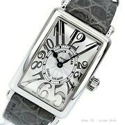 Franck Muller Long Island 902qz Quartz Silver Dial Stainless Leather Womens