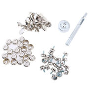 62 Pieces Boat Marine Cover Fastener Snap 3/8and039and039 Screw Kit With Installation Tool
