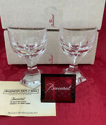 Nibnew Flawless Art Glass Baccarat France Pair Mercure Crystal Water Wine Goblet