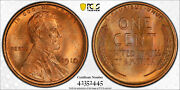 1910 Pcgs Ms66rd Red Lincoln Wheat Cent