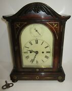 Antique English Double Fusee Bracket Clock 8-day, Time/bell Strike