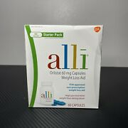 Alli Weight Loss Aid Diet Pills 60mg Capsules Starter Pack 60 Count Exp 07/22+