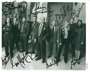 Nypd Blue Tv Cop Series Photo Signed By All Nine Cast Members - Rare