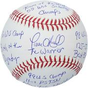 Paul Oand039neill New York Yankees Signed Baseball And Multiple Signatures - Le Of 21