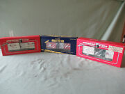 Three American Flyer Christmas Cars 1992, 1995, And 2005 Boxcars  All Mib