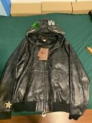Bape X Coach Jacket Hoodie Leather Signature New With Tags Receipt Limited Ed