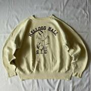 50and039s 60and039s Vintage College Sweatshirt Snoopy Cream Rare