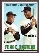 1967 Topps Baseball 423 Fence Busters Willie Mays / Willie Mccovey - Id015