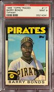 1986 Topps Traded Barry Bonds 11t Psa 9 Centered Perfectly