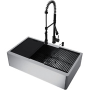 Farmhouse Kitchen Sink 36 In. Single Bowl Corrosion Resistant Stainless Steel