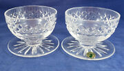 Waterford Maeve Cut Crystal Footed Dessert Grapefruit Bowl Set Of 2