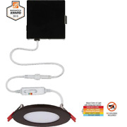 Commercial Electric Ultra Slim 4 In Canless Recessed Led Kit Oil Rubbed Bronze