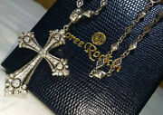 Loree Rodkin Large Size Xl Fancy Gothic Cross Top X Open Gothic Chain Necklace