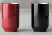 Thermo Mug X Tuchinao Lacquered Tea Tumbler Cup Red And Black Set 250ml Um-t053/4