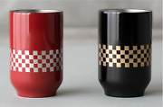 Thermo Mug X Tuchinao Lacquered Tea Tumbler Cup Red And Black Set 250ml Um-t055/6