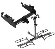 Trailer Hitch For 19-21 F-350 F-450 F-550 Cab Chassis Platform Style 2 Bike Rack