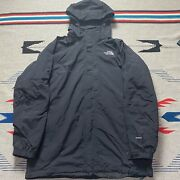 The Tnf Lined Hyvent Rain Jacket Mens Size Xl Solid Black