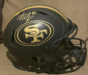 Nick Bosa Signed Full Size Eclipse Authentic Helmet 49ers Beckett Auto