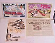 3 Repro Ives Trains And Toy Catalogs + Contest Newspaper Repro - 1921, 1923, 1930