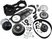 Belt Drives 2in. Belt Drive Kit With Changeable Domes Black Evo-14b-2b