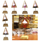 Wooden Sunglasses Eyeglass Display Holder Mustache Display Stand Funny Decor