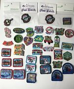 New Undated Lot Of 38 Girl Scout Fun Patches Crafts Parade Camping More