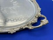 Large Antique Ornate Silver Tray Germany Or Finland Late 1800and039s