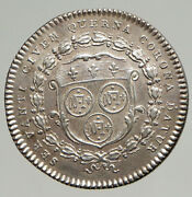Undated France City Chartres King Louis Xvi Antique French Silver Medal I94293